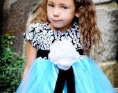 Flower Girl Dress Damask