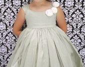 Flower Girl Dress Ivory Roses