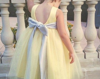 Flower Girl Dress Wide Sash