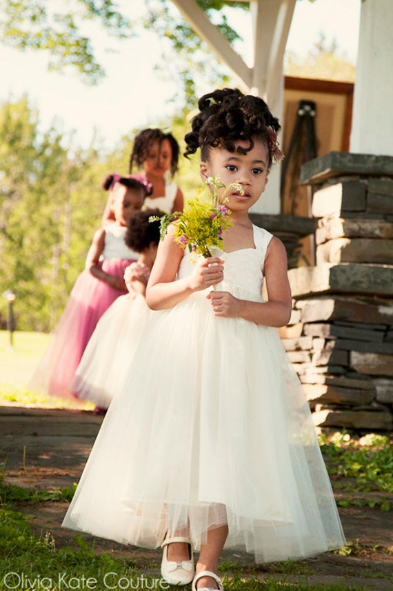 Ivory Tutu Dress Flower Girl