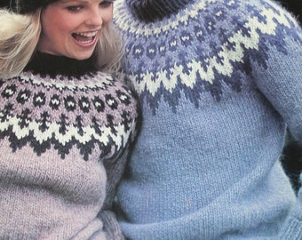 Sweater Knitting Patterns Hats Mittens Cardigan Outdoor Knits Beehive Patons  Lopi 444 Bulky Weight Yarn Vintage Paper Originals not PDF