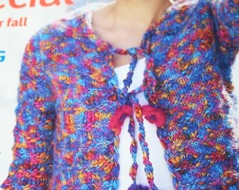 Knitting Patterns Crochet Family Circle Easy Knitting plus Crochet Fall 2003 Men Women Children Sweater Cardigans Paper Original NOT a PDF