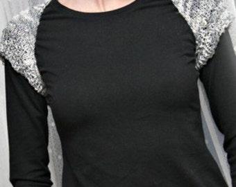 Shrug Knitting Pattern Easy Short Sleeve Choose Your Own Yarn by elanknits PDF Women Teen Girl