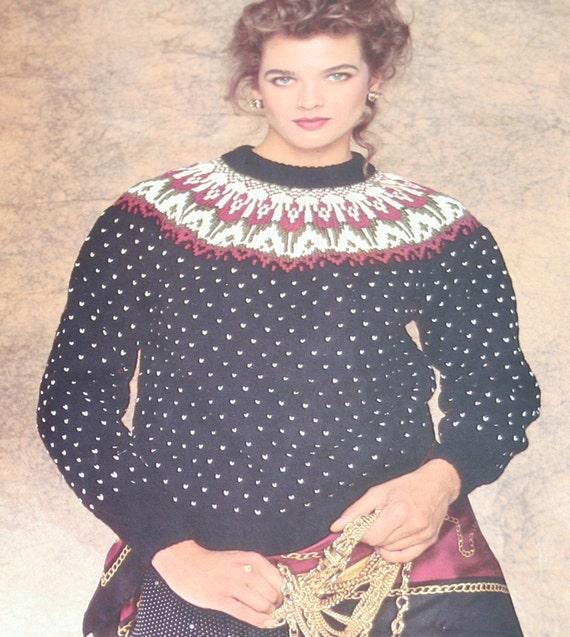 Knitting Patterns Sweaters Around the Seasons Beehive Patons 548 Women Men Nordic Icelandic Ski Mittens Vintage Paper Original NOT a PDF
