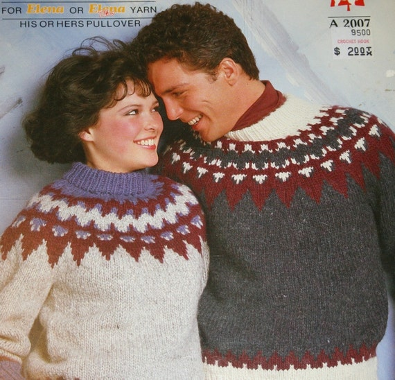 Knitting Pattern Sweater Elena White Buffalo A 2007 Men Women Nordic Icelandic Vintage Paper Original not PDF