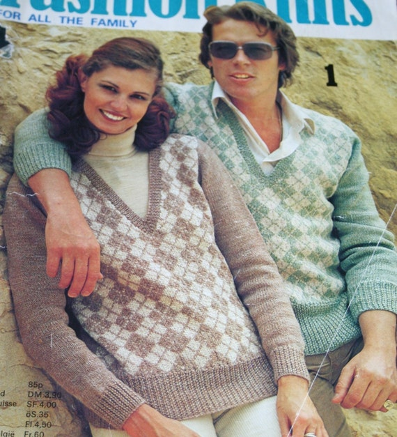 Sweater Knitting Patterns Fashion Knits Family Beehive Patons 3 Men Women Children Vintage Paper Original NOT a PDF