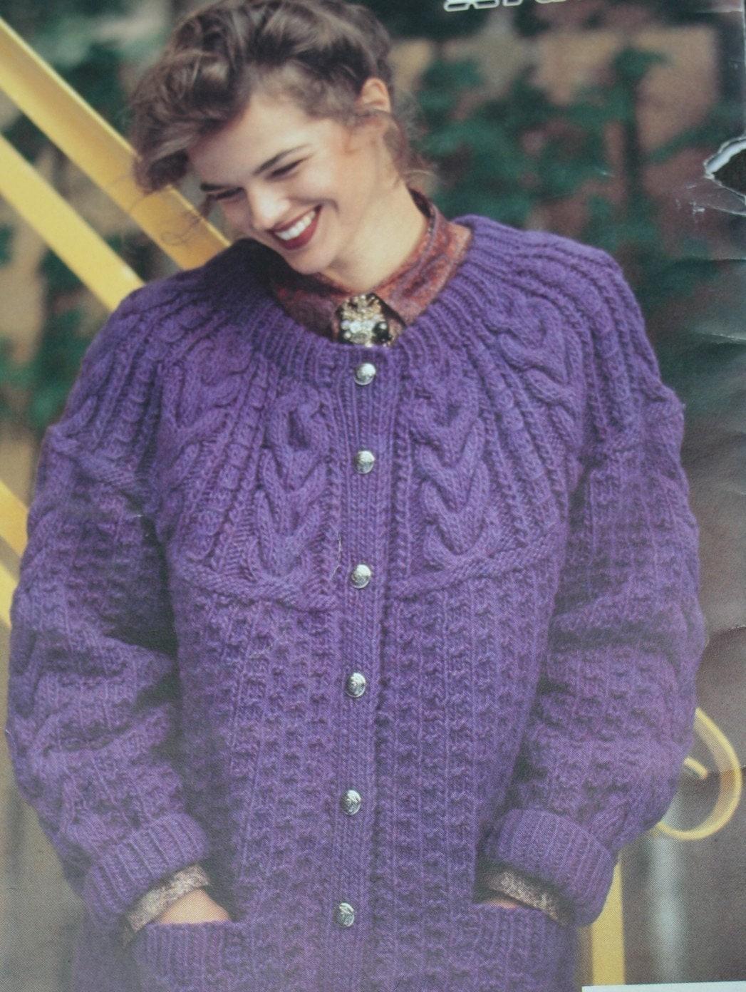 Quick Cardigan Knitting Pattern : Sweater Knitting Patterns Quick Knit Patons 663 Women Men