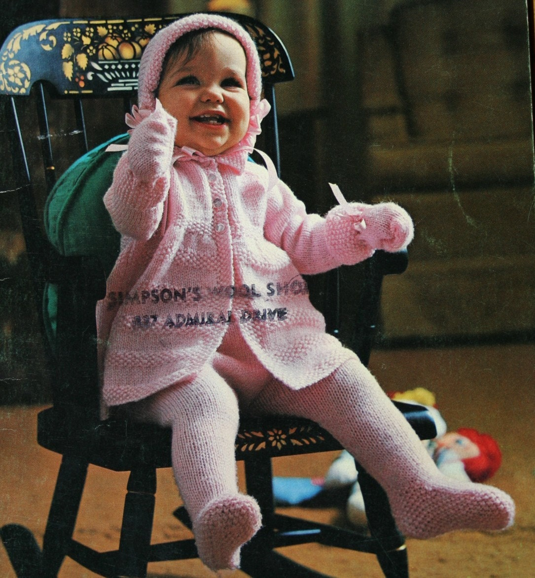 Baby Knitting Patterns Quickerknits Beehive Patons 120 Sweater