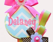 NEW Girls Round Hair Bow Hair Clips Holder
