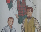 Simplicity 4160, early 1960s men's shirt and vest