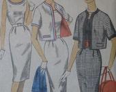 Simplicity 3398, early 1960s sleeveless dress and short jacket