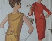 Simplicity 5742, 1960s two piece dress