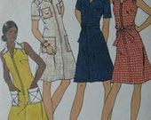 Butterick 3559, 1970s zip-front dress