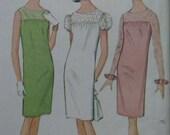 McCall's 8262, 1960s mod shift dress with yoke