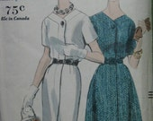 Vogue 5128, early 1960s dress with slim or slightly flared skirt