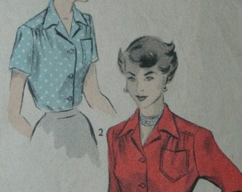 Advance 5909, early 1950s blouse