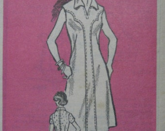 Workbasket 4698, 1970s dress with yoke effect
