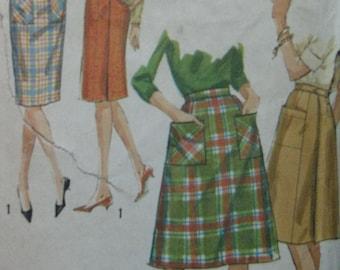 Simplicity 5084, 1960s wrap skirts