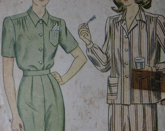 Simplicity 1999, 1940s pajamas