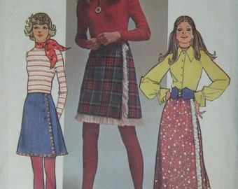 Simplicity  9622, early 1970s wrap skirt