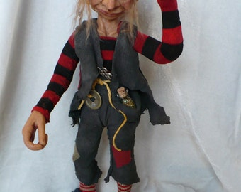 The Search For a Tail, Art Doll OOAK