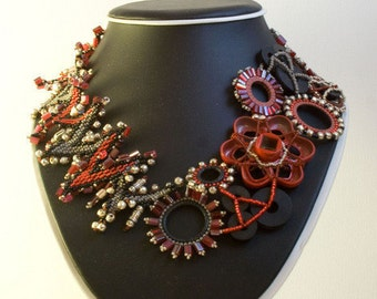Fire Powered Plumbing Beaded Washer Necklace