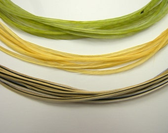 EXTRA Long Rooster Feathers, Olive Sage, SKINNY Hair Feather Extensions, 12 to 15 Inches Long, SELECT Your Size