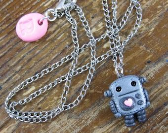 Super Tiny Robot Love Necklace