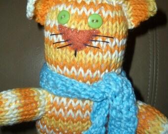 Knit Cat Pattern - Upright Tabby #302