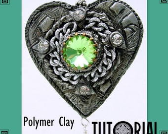 Medieval Heart Pendant - Polymer Clay Tutorial