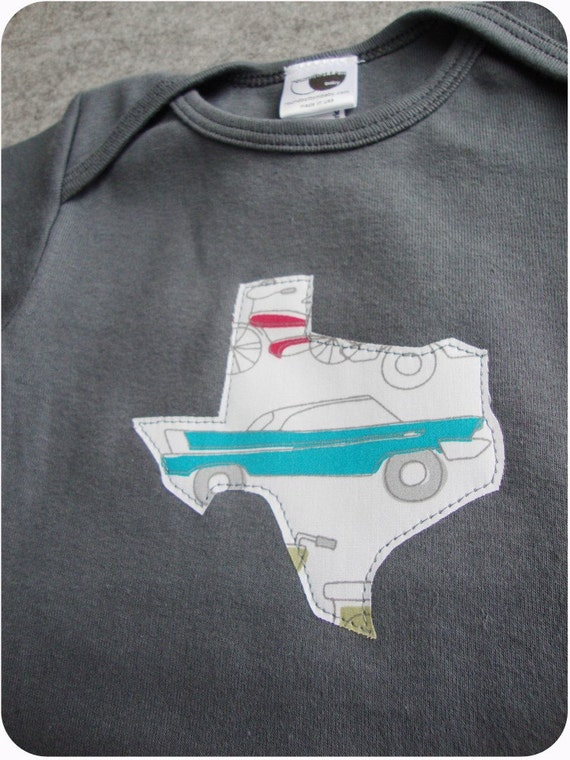 texas asphalt gray infant onesie 6-12m 12-18m toddler 2 and 4