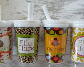 Personalized Child's Tumbler with Everlasting Straw