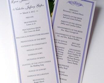 Gala Wedding Ceremony Program Panels