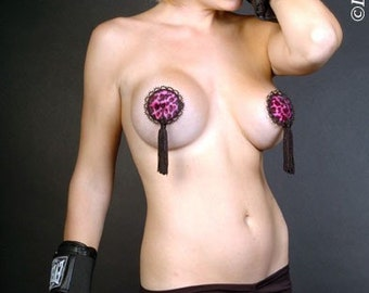 Twirly Pink Pussy Cat Deluxe Burlesque Nipple Pasties