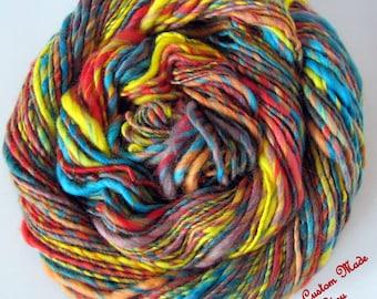 5 Skeins Handspun Yarn Wholesale Bulk Single Spun Singles Handmade Yarn Average 125 Yards Each 4 Ounce Skein