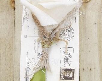 2nd Second wedding anniversary Cotton Flower Rustic Woodland Wedding Garden Forest - Made To Order