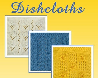 PDF SUMMER Dishcloths Pattern Collection, set of 3 patterns, from our Seasonal Dishcloth Series