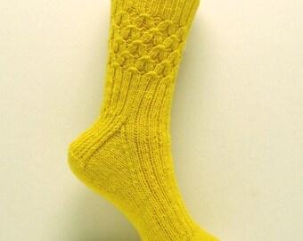 PDF Knitting Pattern, HONEYCOMB Sock Pattern, from Off the Cuff Sock Pattern Series