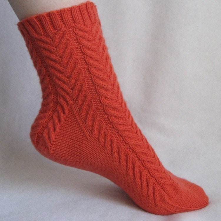 Knitting Socks Design : Knitting sock pattern coral cables cable design