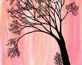 Bunny in the Pink Forest - Art Print