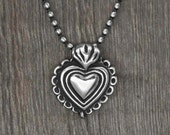 Milagro Heart Necklace, miracle heart, mexican milagro.
