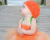 CROCHET PATTERN for a Little Pumpkin Hat  Photo Prop- Instant Download Baby Toddler Fall