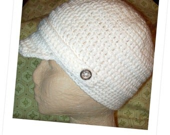 Brim Hat Under Two Hour Crochet PDF Pattern Instant Download