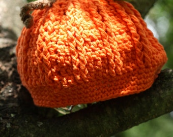 Pattern for a Crochet Little Pumpkin Hat  Photo Prop PDF Instant Download Fall Halloween Garden