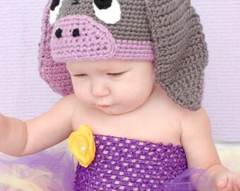 Crochet Little Donkey Hat for Baby Thru Adult Custom Order