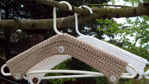 Pattern Directions for making Crochet Hanger Cover PDF Pattern Instant Download Covered Hangers Laundry