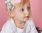 Headband Feather Photo Prop Baby Pink Glitz Decades 1930s The Della