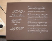 Personalized Calligraphy of a Poem, Lyrics, Quote or Certificate
