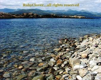 Ring of Beara, CO. CORK, Ireland Photo, Rocky Shore,Mountain View,Beautiful Summer Day,Blue Sea and Sky,Rural Mountain Landscape,Irish Beach