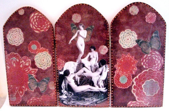 They Loved Their Tea Parties ...Folding Screen MATURE